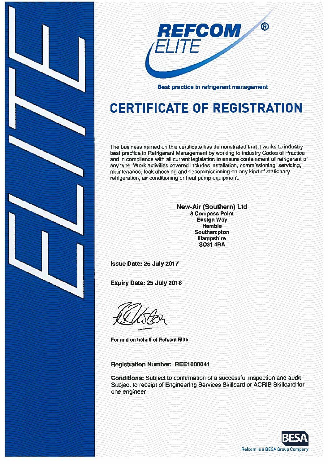 Refcom Elite Exp 250718